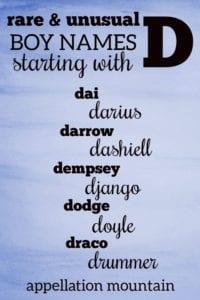rare D names for boys