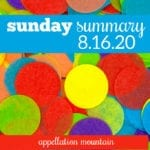 Sunday Summary 8.16.20