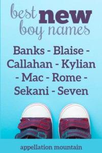 best new boy names 2020