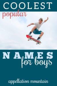 coolest Top 100 boy names