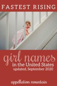 fastest rising girl names
