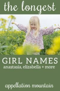 longest girl names