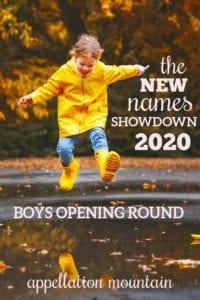 New Names Showdown 2020 Boys Opening Round