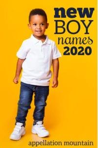 new boy names 2020