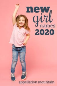 new girl names 2020