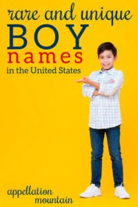 rarest boy names
