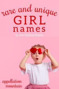 rarest girl names