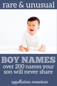 rare unusual boy names