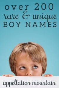 rarest boy names