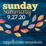 Sunday Summary 9.27.20