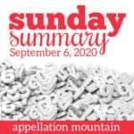 Sunday Summary: 9.6.20