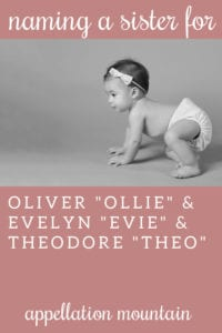 NH: Sister for Ollie, Evie, Theo