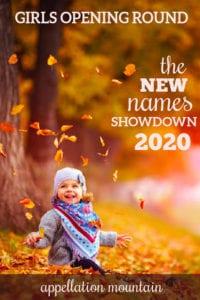 new names showdown 2020 girls opening round