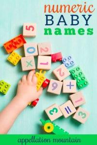 numeric baby names
