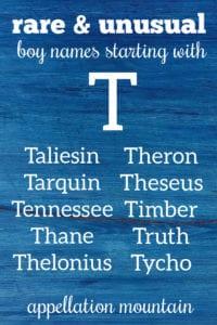 rare T names for boys