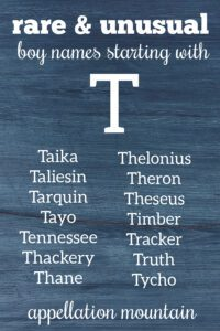 boy names staring with T