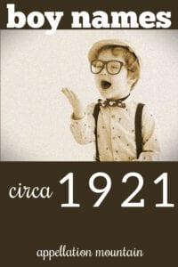 1921 boy names