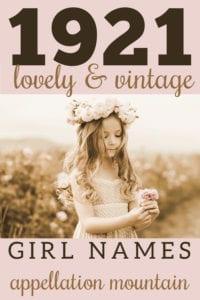 1921 girl names