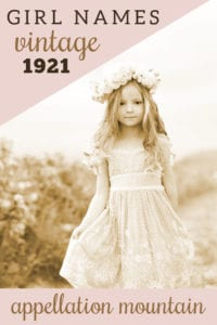 1921 vintage girl names