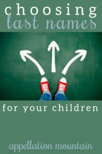 choosing your child's last name