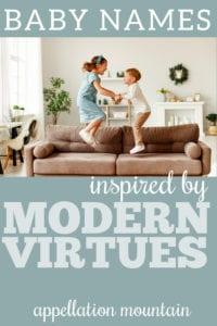 modern virtue baby names