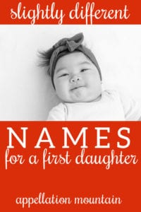 Name Help: First Daughter