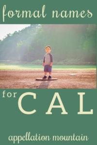 nickname Cal