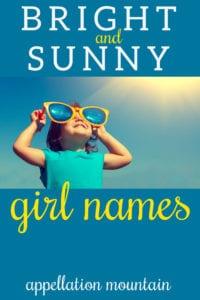 sunny girl names