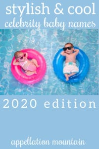 celebrity baby names 2020