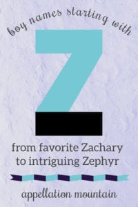 boy names starting with Z