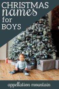 Christmas names for boys