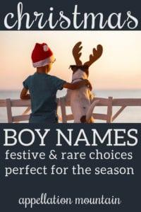 boy names Christmas