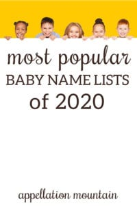 most popular baby name lists