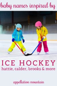 baby names inspired by ice hockey