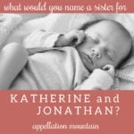 Name Help: Katherine, Jonathan, and …