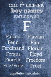 F names for boys