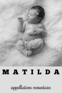 baby name Matilda