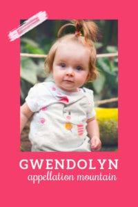 baby name Gwendolyn