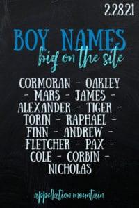 boy names 2.28.21