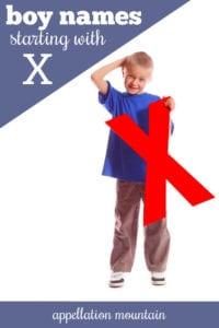 X boy names