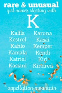 Girl names starting with K