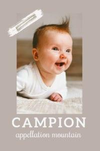 baby name campion