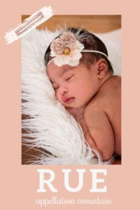 baby name Rue