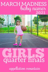 March Madness Baby Names 2021: Girls Quarter FInals