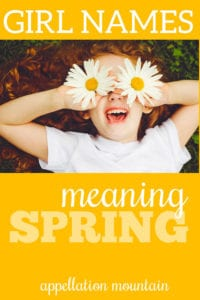 spring names for girls