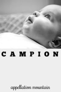 boy name campion