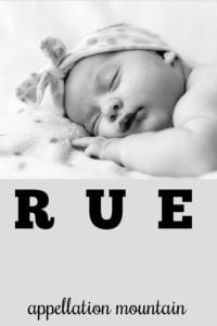 girl name Rue