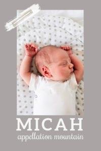 baby name Micah