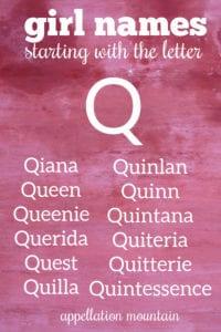 Q names for girls