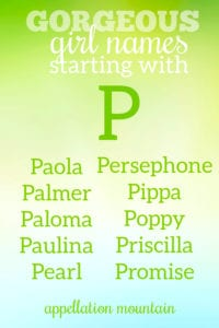 familiar girl names starting with P